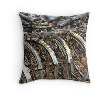 Commuter Bicycles, Mumbai, India Throw Pillow