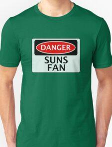 DANGER SUNS FAN FAKE FUNNY SAFETY SIGN SIGNAGE Unisex T-Shirt