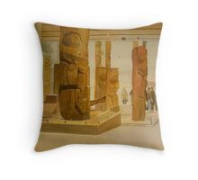 Museum of Anthropology, watercolor on boarc Throw Pillow