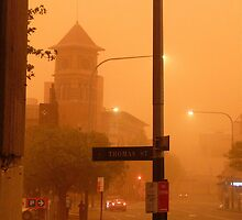 Thomas Street Dust Storm by Ron Marton