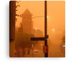 Thomas Street Dust Storm Canvas Print