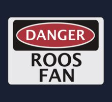 DANGER ROOS FAN FAKE FUNNY SAFETY SIGN SIGNAGE Kids Clothes