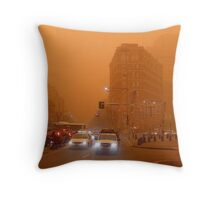 Dusty - cnr. George Street & Broadway Throw Pillow