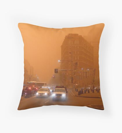 Dusty - cnr. George Street & Broadway Throw Pillow
