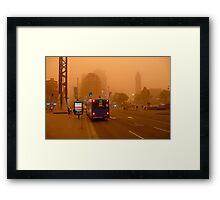 Dust Storm 7 a.m. Framed Print