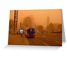 Dust Storm 7 a.m. Greeting Card