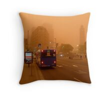 Dust Storm 7 a.m. Throw Pillow