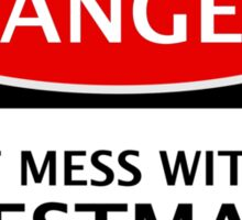 DANGER  DON'T MESS WITH THE BESTMAN, FAKE FUNNY WEDDING SAFETY SIGN SIGNAGE Sticker