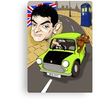 MR BEAN & DR WHO Canvas Print