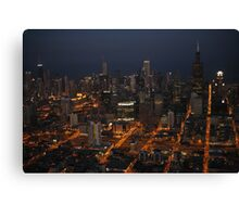Downtown Chicago - Aerial Photography Canvas Print