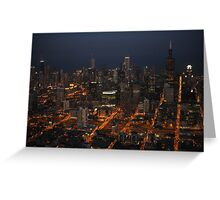 Downtown Chicago - Aerial Photography Greeting Card