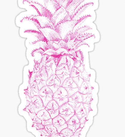 Pink Pineapple Sticker