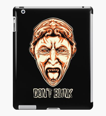 Weeping Angel - Don't Blink - Doctor Who iPad Case/Skin