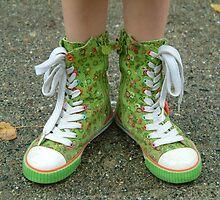 My Pretty Green Hightops! by Merilyn