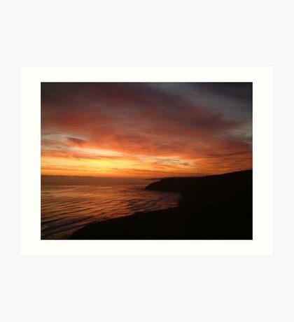 Red Sea UK Scarborough E coast Art Print