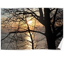 Lakeview Sunset Poster