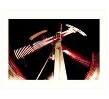 Scissors - Street Carnival Lights in BC Art Print
