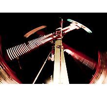 Scissors - Street Carnival Lights in BC Photographic Print