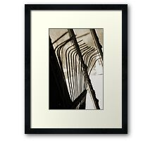 Sepia Tone Metal Rake Prongs Framed Print