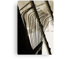 Sepia Tone Metal Rake Prongs Canvas Print