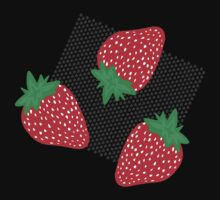 Bold Strawberries Pattern Kids Clothes