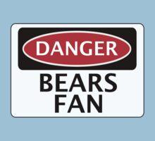 DANGER BEARS FAN FAKE FUNNY SAFETY SIGN SIGNAGE Kids Tee