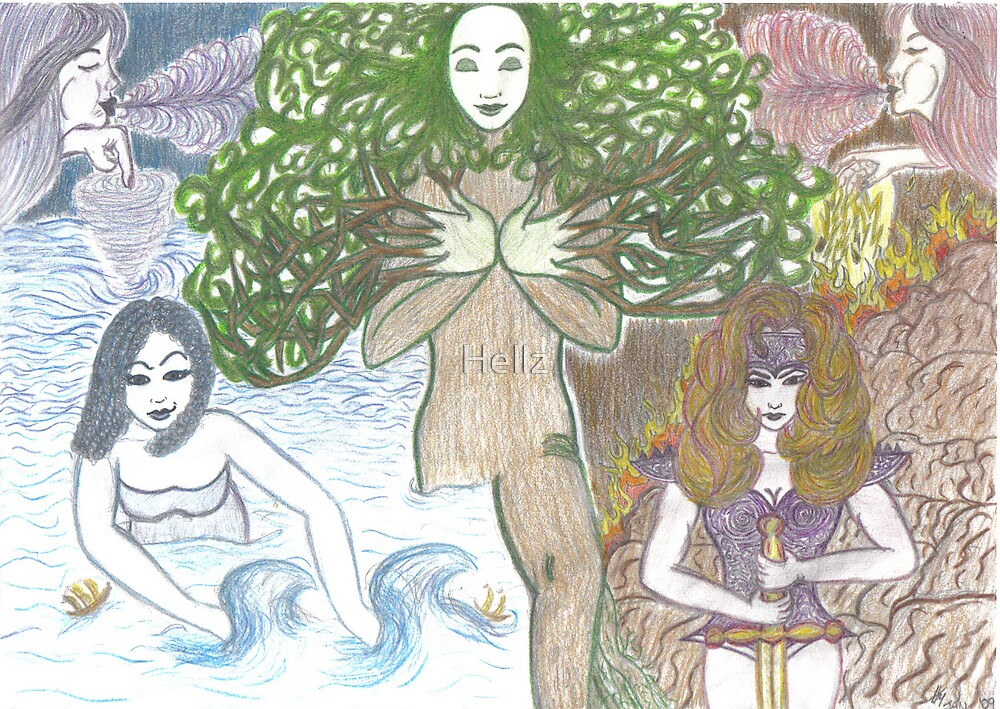 Mother Nature and her elements by Hellz