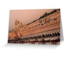 Clock tower-Golden Temple Greeting Card