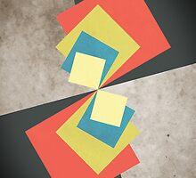 Geometric Grunge Squares by Phil Perkins