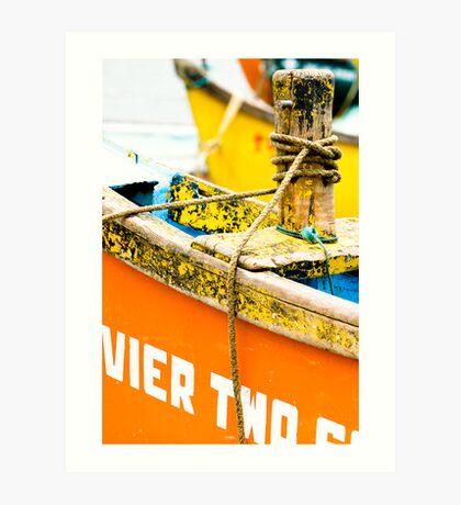 Yellow and Orange - River Boats Art Print