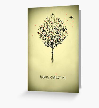 A bird in the hand - Christmas card Greeting Card