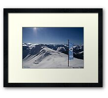 The Top of Europe Framed Print