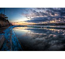 Bondi Sunset - Pool of Glass Photographic Print