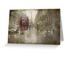 Rainy day in London Greeting Card