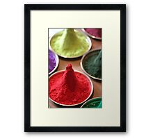 Pigment- Piles of Color Framed Print