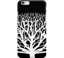 Tree Dwelling White Silhouette iPhone Case/Skin