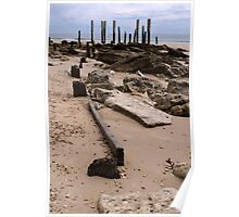 Pt Willunga Jetty Ruins - Overcast Afternoon Poster