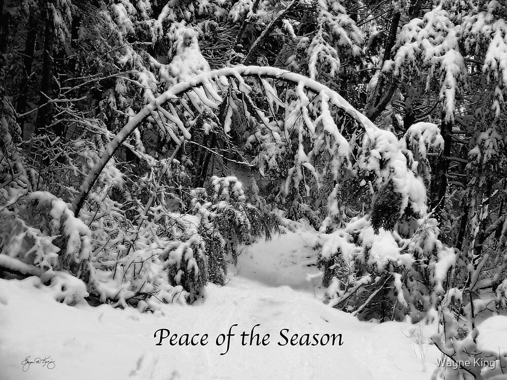 Peace of the Season - Holiday Card by Wayne King