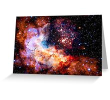 Cosmic Connection, Galaxy, Space, Nebula, Stars, Planet, Universe,  Greeting Card