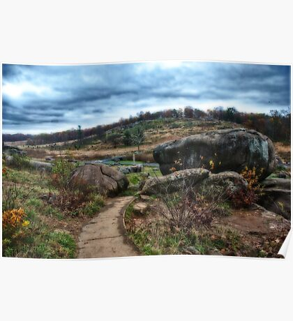 Devils Den looking over to Little Round Top Poster