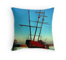 Pirate ship 2 Throw Pillow