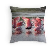 Roseated Aerobics Throw Pillow