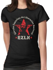 EZLN Zapatistas Red Star & Slogan Womens Fitted T-Shirt