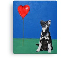 Freddie and the Balloon Canvas Print