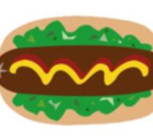 Hot Dog Cartoon Design Sticker