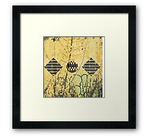 Collapse/collab Framed Print