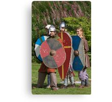 Medieval Fighters Canvas Print