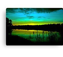 Green Dusk Canvas Print
