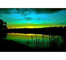 Green Dusk Photographic Print