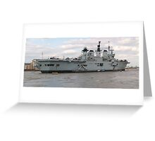 HMS Illustrious in Greenwich Meantime Greeting Card